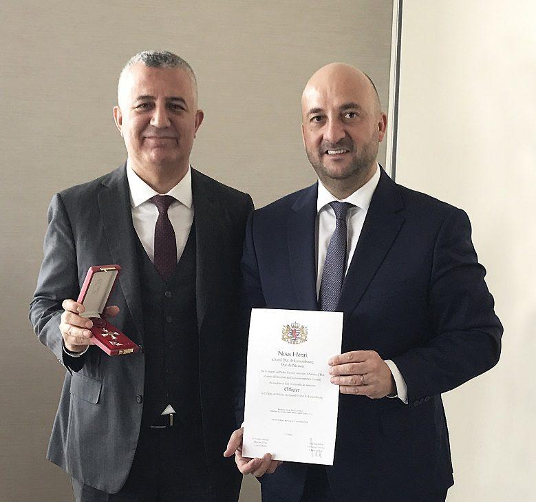 Mars Logistics Yönetim Kurulu Başkanı Garip Sahillioğlu'na Lüksemburg'tan Liyakat Nişanı