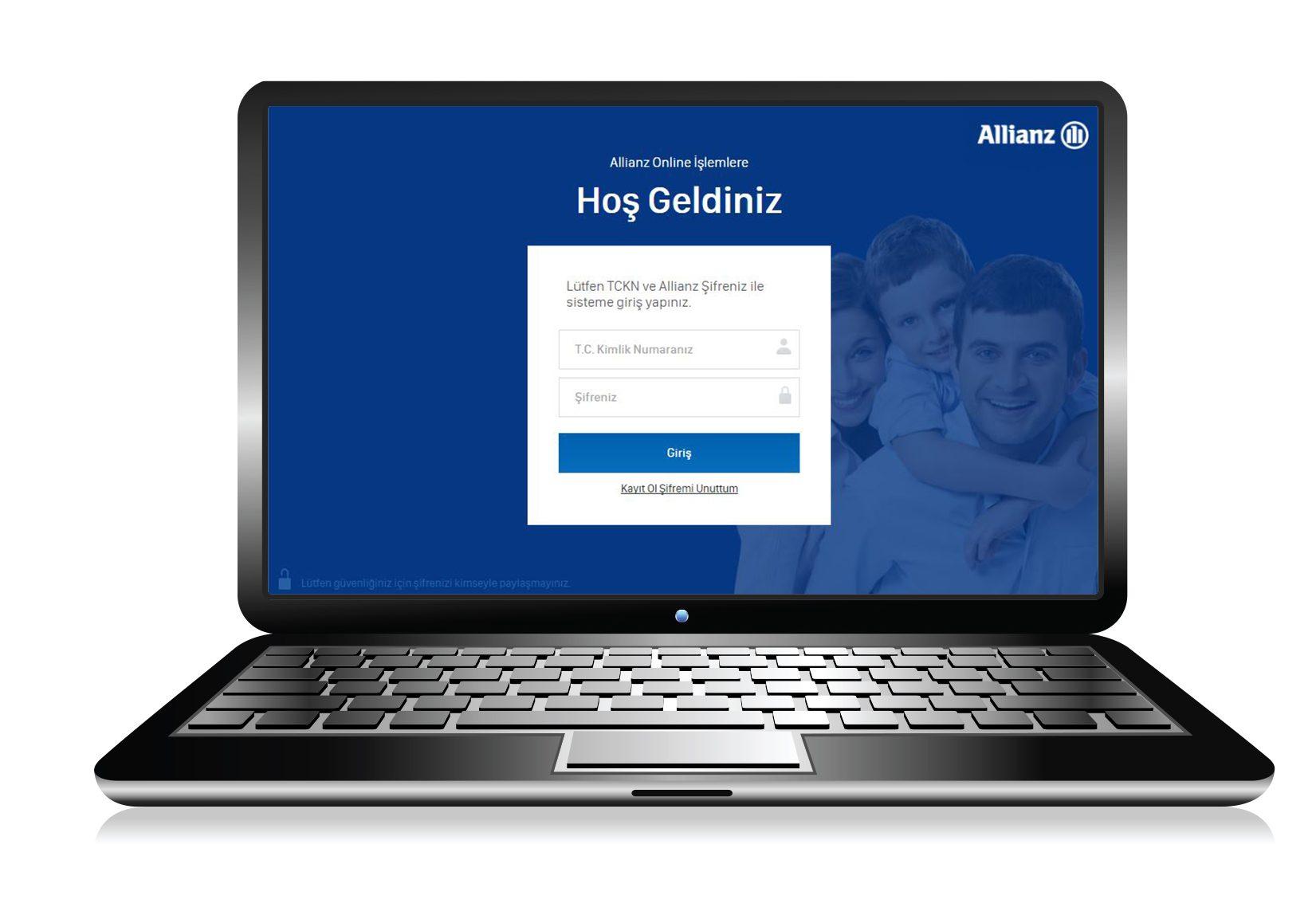 Allianz Türkiye'den müşterilerine pratik online işlem merkezi hizmeti